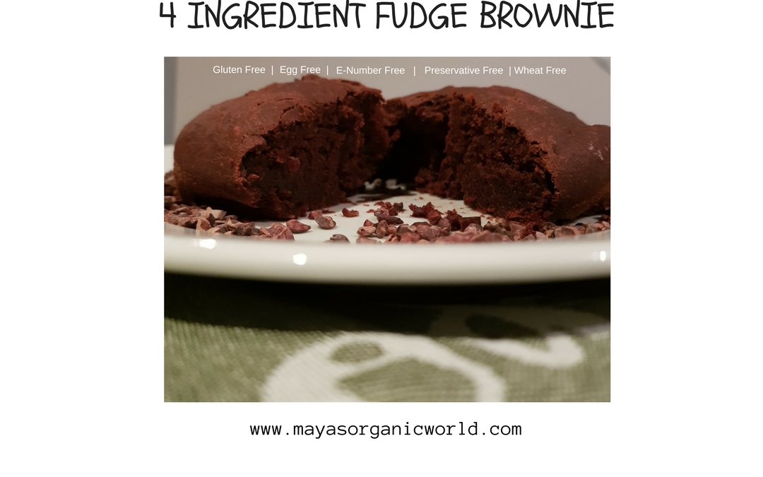 4 Ingredient Fudge Brownie